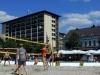 Beachvolleyball auf dem Stummplatz